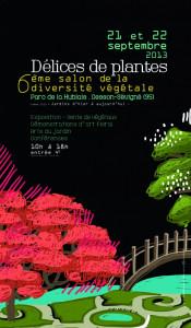 MA CONFÉRENCE-PROJECTION : DES JARDINS DE LE NÔTRE À NOS JOURS : une relecture de l'art des jardins dans 09/2013 recto_flyer_delice_de_plantes_2013-175x300