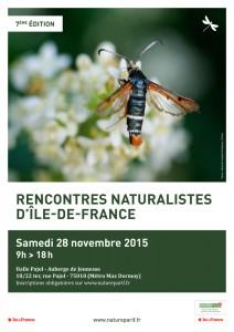 28 novembre 2015, Halle Pajol, Paris 18e : 7èmes RENCONTRES NATURALISTES FRANCILIENNES dans assister à des conférences afficherencontresnaturalistes2015_bd-212x300
